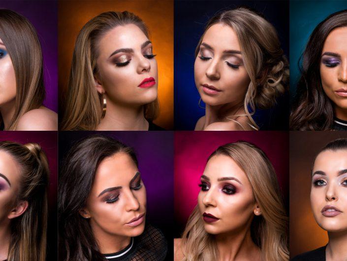 Lauren Rowan makeup students May 2018