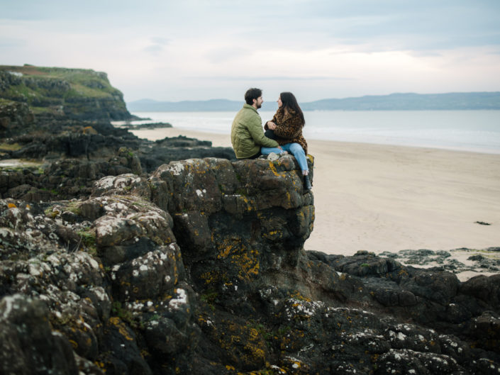 Ross and Alex engagement, Castlerock Beach