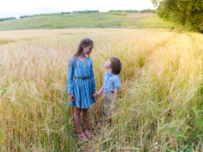 Erin and Jack, cornfields