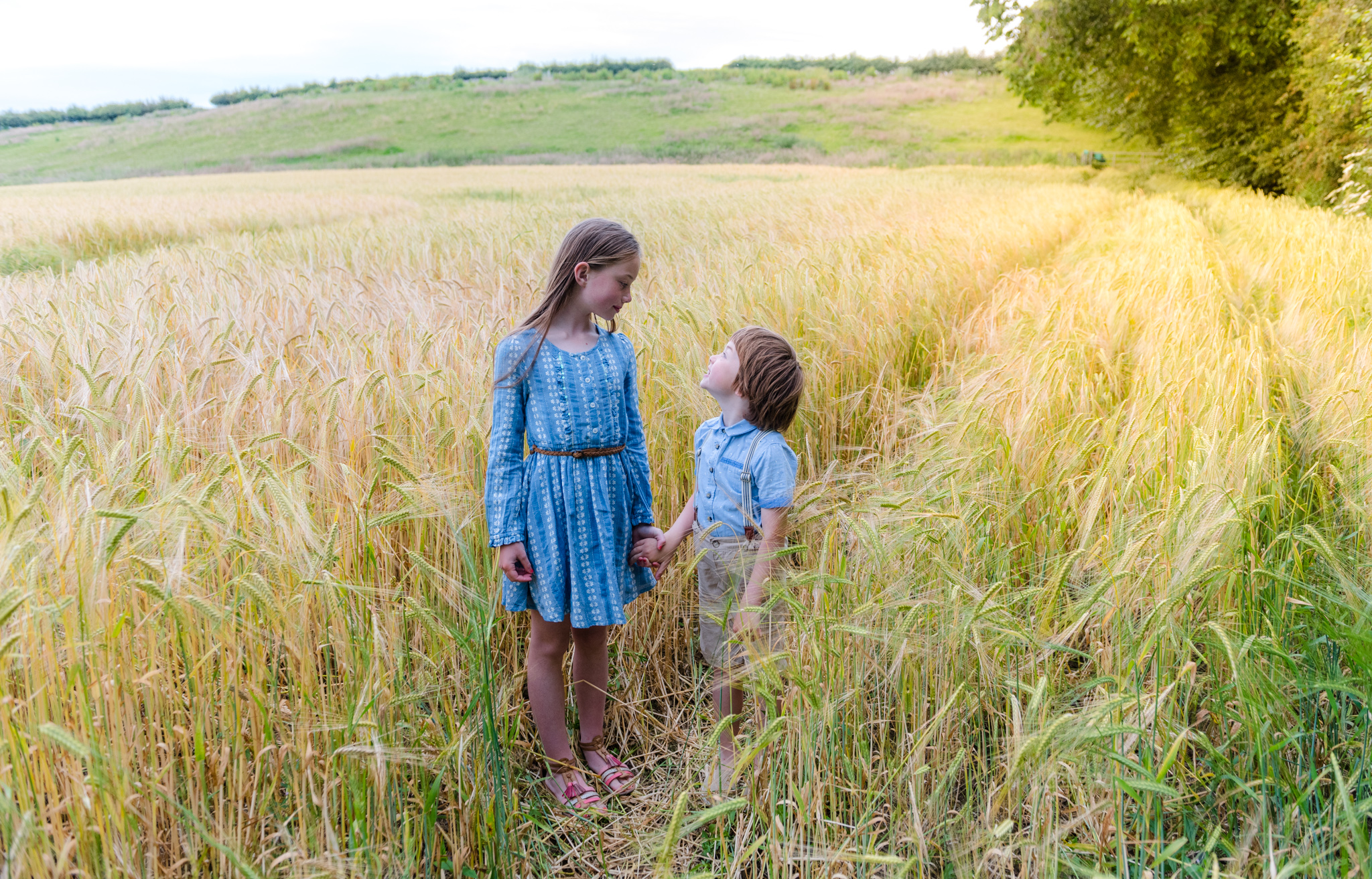 Erin and Jack, cornfields