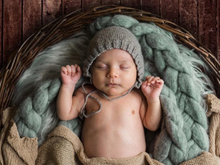 Newborn baby Erik